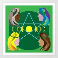 goddess Art Prints featuring Goddess by Watch House Design