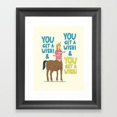 It's wish time! Framed Art Print