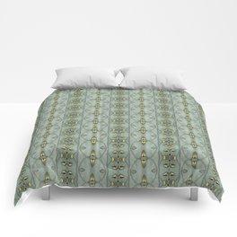 Victorian Golden Leaves Pattern 1 Comforters