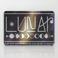 lunar iPad Cases featuring Lunar by Nate Compton