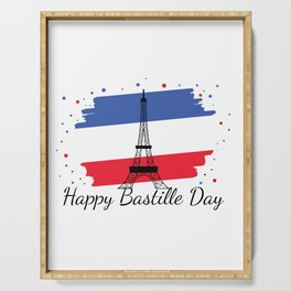 Happy National Bastille Day Serving Tray