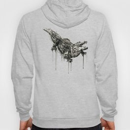 Alligator Black and White Hoody