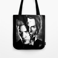 winchester Tote Bags featuring Winchester Bros. by ArtisticCole