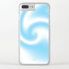 Blue Raspberry Ribbon Candy Fractal Clear iPhone Case