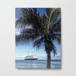 Cruise ship, Frederiksted Pier, St. Croix, U.S. Virgin Islands 2013 Metal Print