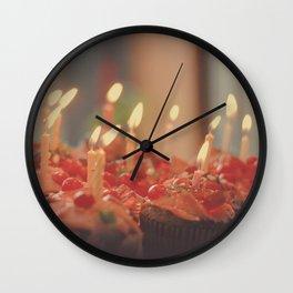 Happy Birthday Cupcakes Wall Clock