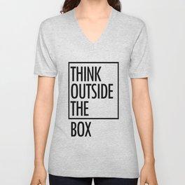 Think outside the box Unisex V-Neck
