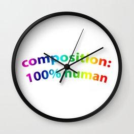 100%HUMAN Wall Clock