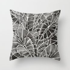 Schismatoglottis Calyptrata – Black Palette Throw Pillow