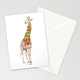 Giraffe in a Scarf Stationery Cards