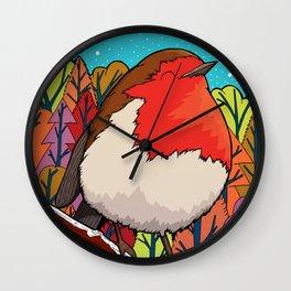The Big Red Robin Wall Clock