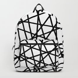 Lazer Dance Black on White Backpack