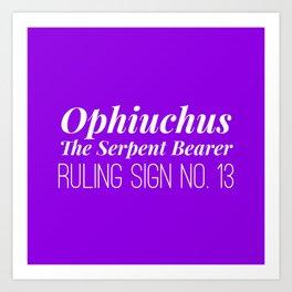 Ophiuchus the Serpent Bearer Art Print