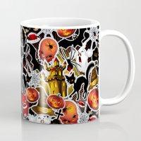 saga Mugs featuring Halloween Spooky Cartoon Saga by BluedarkArt