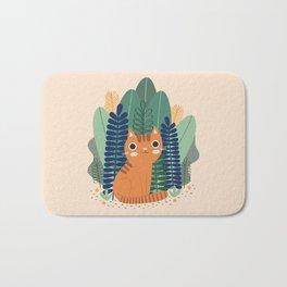 Orange Garden Cat Bath Mat