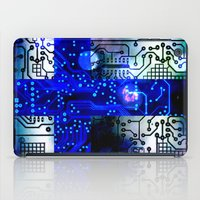 finland iPad Cases featuring circuit board Finland by seb mcnulty