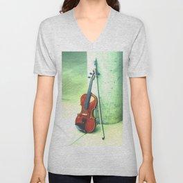 Fall Violin Unisex V-Neck