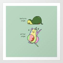 After Yoga Avocado Art Print