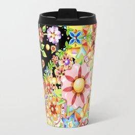 Boho Chic Millefiori Pattern Travel Mug