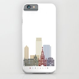 Medellin skyline poster iPhone Case