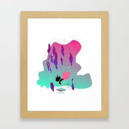 fall in Framed Art Print