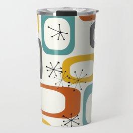 Mid Century Modern Shapes 02 #society6 #buyart Travel Mug