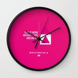 Perfect Logo Series (2 of 11) Wall Clock