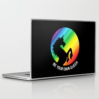 queer Laptop & iPad Skins featuring Be Your Own Queer by Berberism