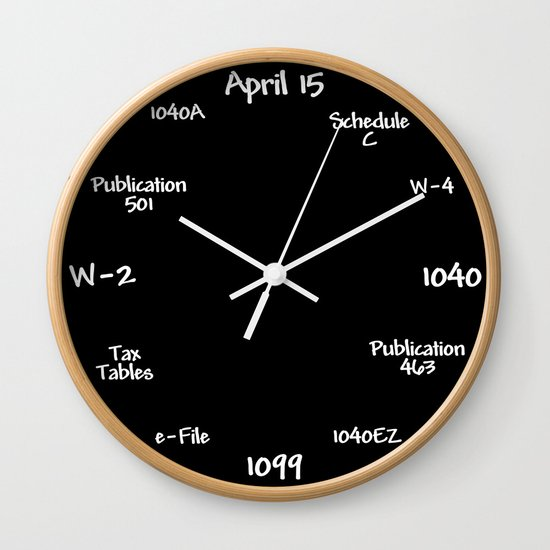 Tax Accountant Clock by ripdntorn