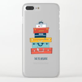 Take me anywhere Clear iPhone Case