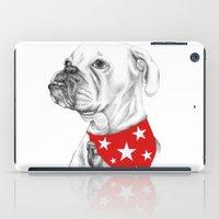 boxer iPad Cases featuring Boxer by Natasha Maiklem