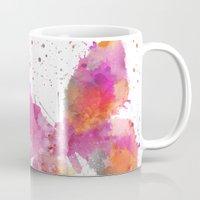 artsy Mugs featuring Artsy Butterfly by LebensART