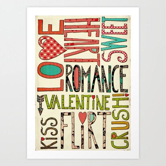 My Romantic Valentine Art Print