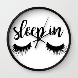 Sleep In Wall Clock