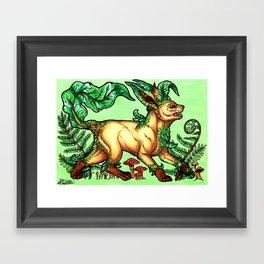 Evolve the Rainbow - Leafeon Framed Art Print