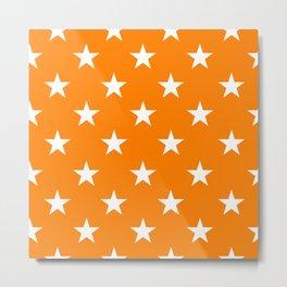 Stars (White/Orange) Metal Print
