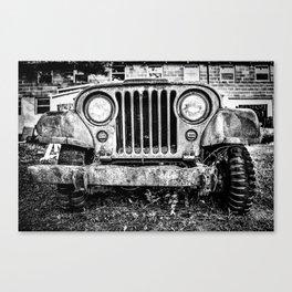 A Jeep's Face Canvas Print
