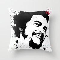 che Throw Pillows featuring Che by Cynthia Alvarez
