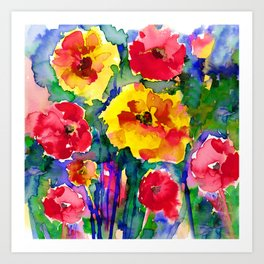 Floral Enchantment No.17B by Kathy Morton Stanion Kunstdrucke