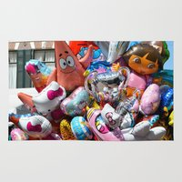 balloons Area & Throw Rugs featuring Balloons by Marieken