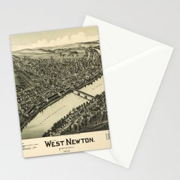 Aerial View of West Newton, Pennsylvania (1900) Stationery Cards