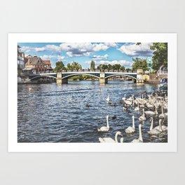 Windsor Town Bridge Art Print