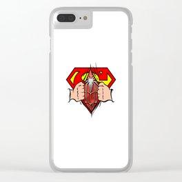Double Superhero Clear iPhone Case