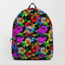 Vivid Color Floral Pattern Backpack