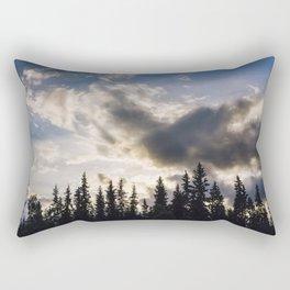 Cloudy Sundown Rectangular Pillow