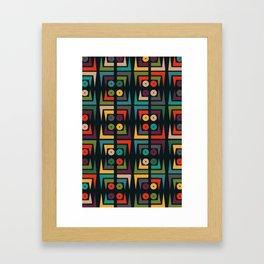 Color jukebox pattern Framed Art Print