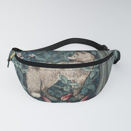 William Morris Forest Fox Greenery apestry Fanny Pack