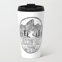 Jackson Hole Wyoming Travel Mug