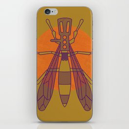Dragon-fly headshell iPhone Skin
