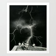 Together in the storm... (2013) Art Print
